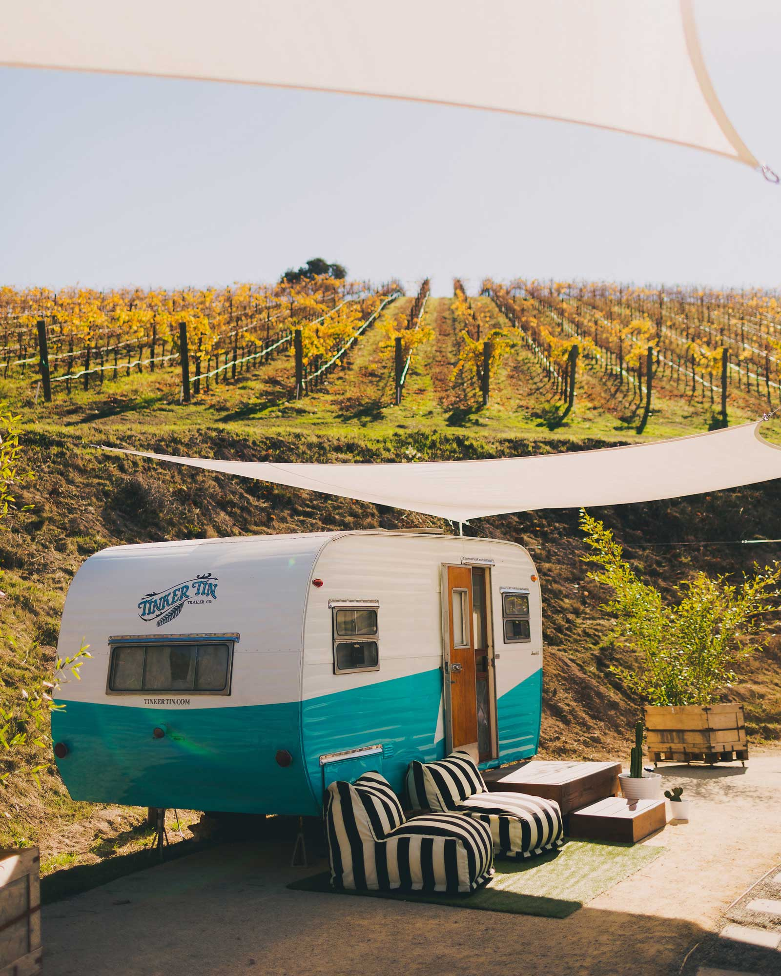 Grab Your Girlfriends and Spend a Weekend Drinking Wine in Vintage Campers at This Scenic Vineyard