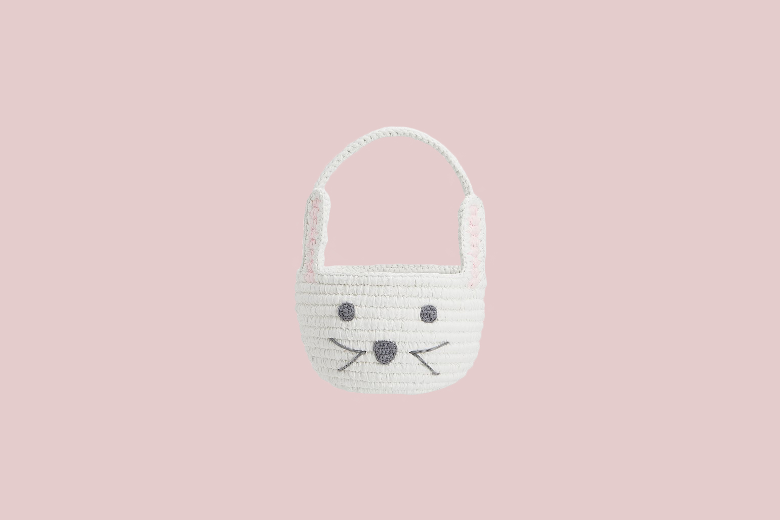Pottery Barn Kids Bunny Shaped Woven Small Easter Basket