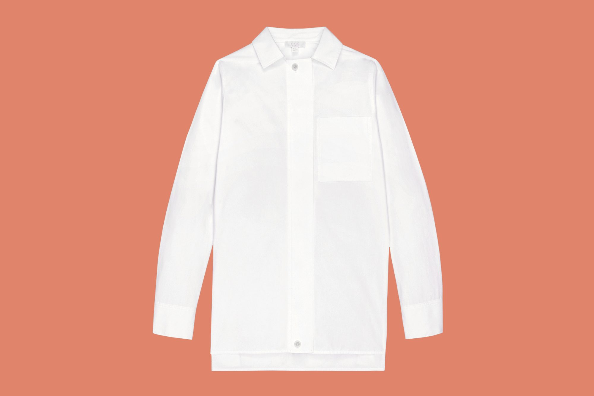 Cos covered placket blouse
