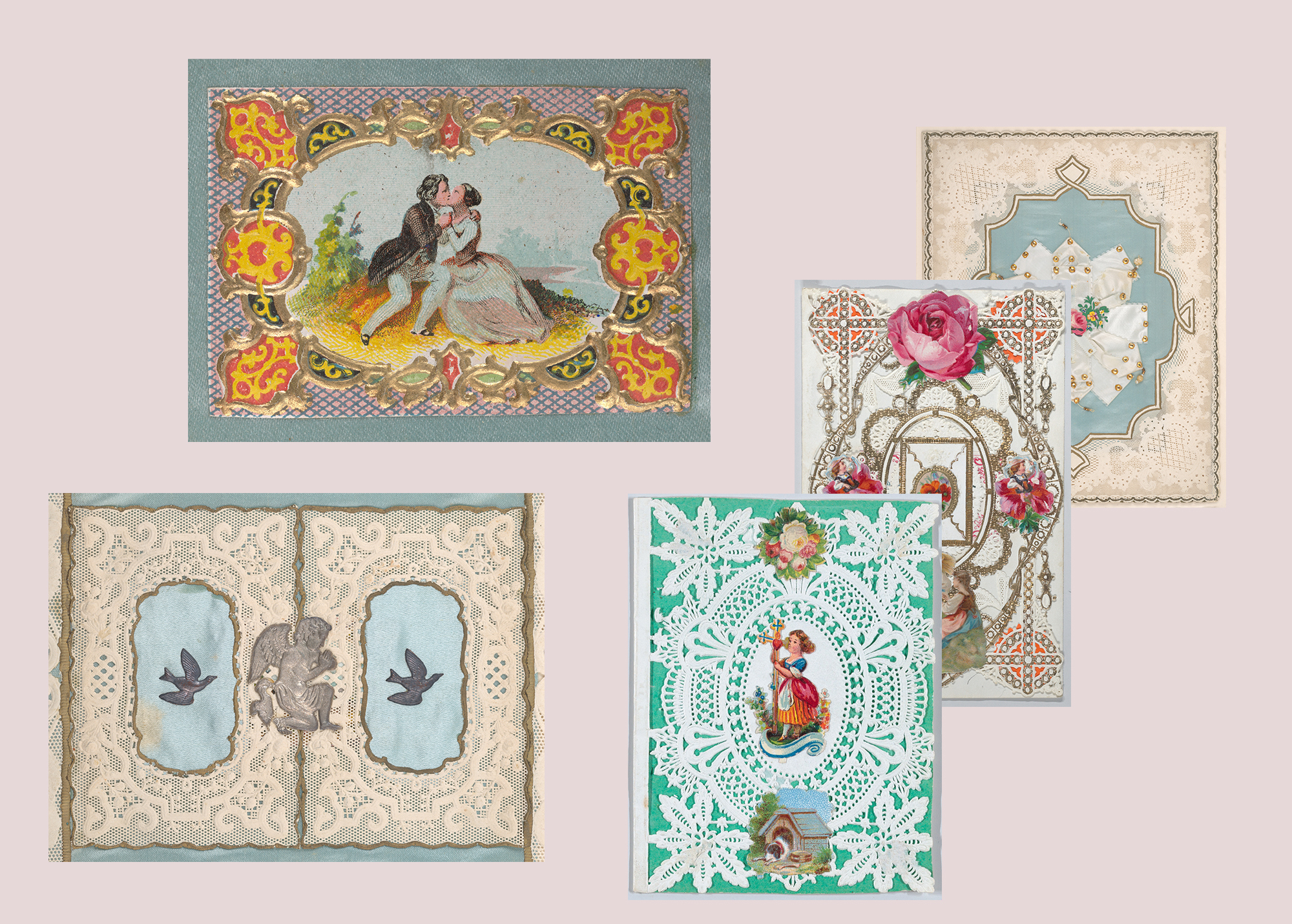 antique valentine cards by Esther A. Howland