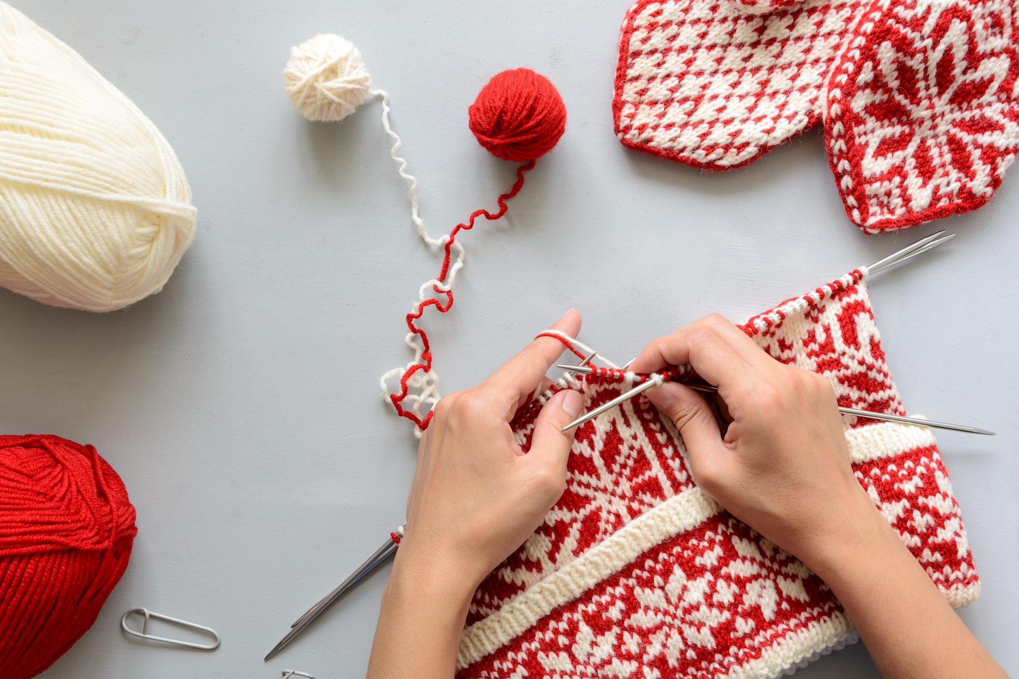Try Fair Isle Knitting—It's An Easy Method Using Two Colors of Yarn
