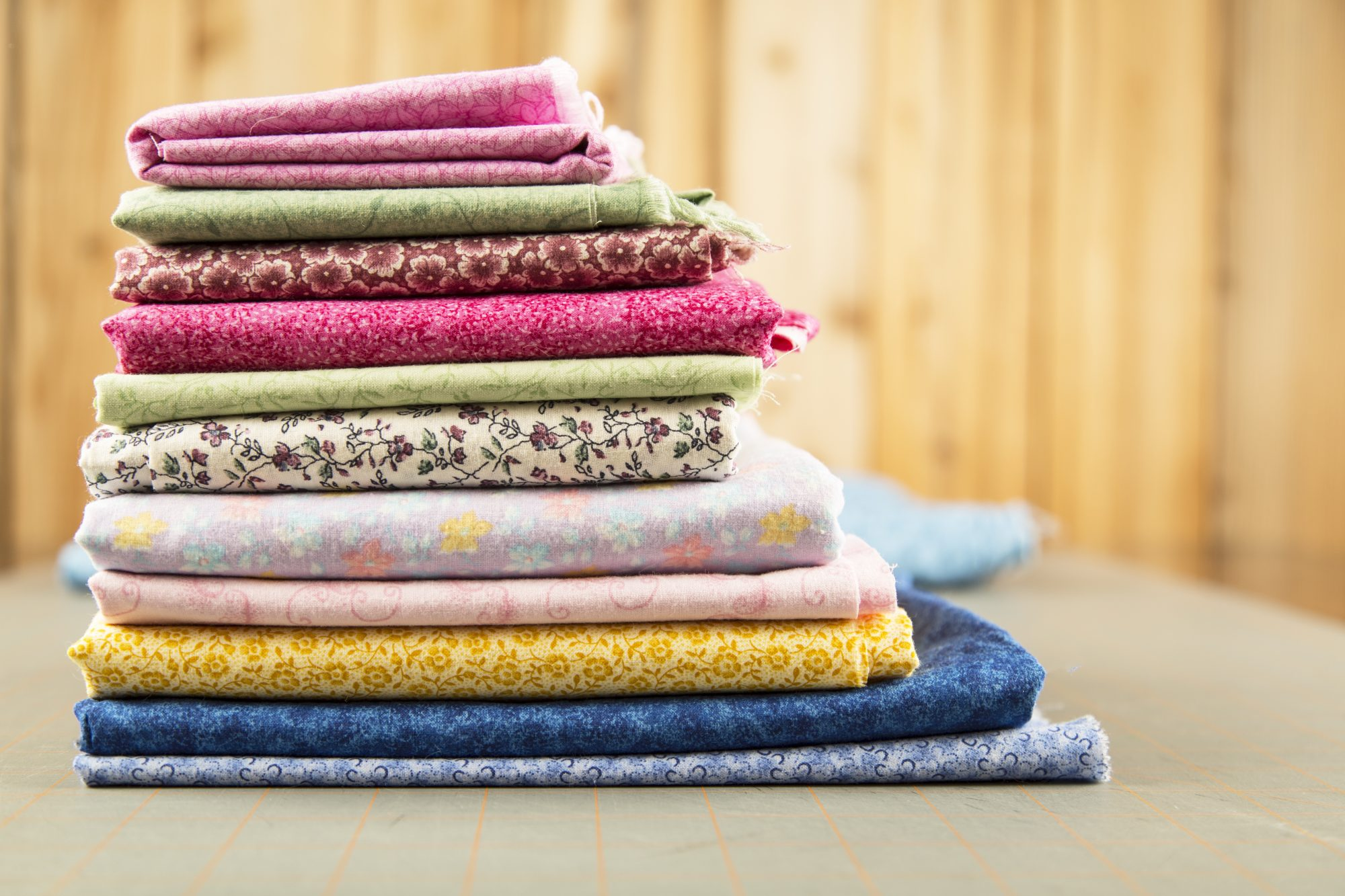 stack of fabric for quilting or sewing
