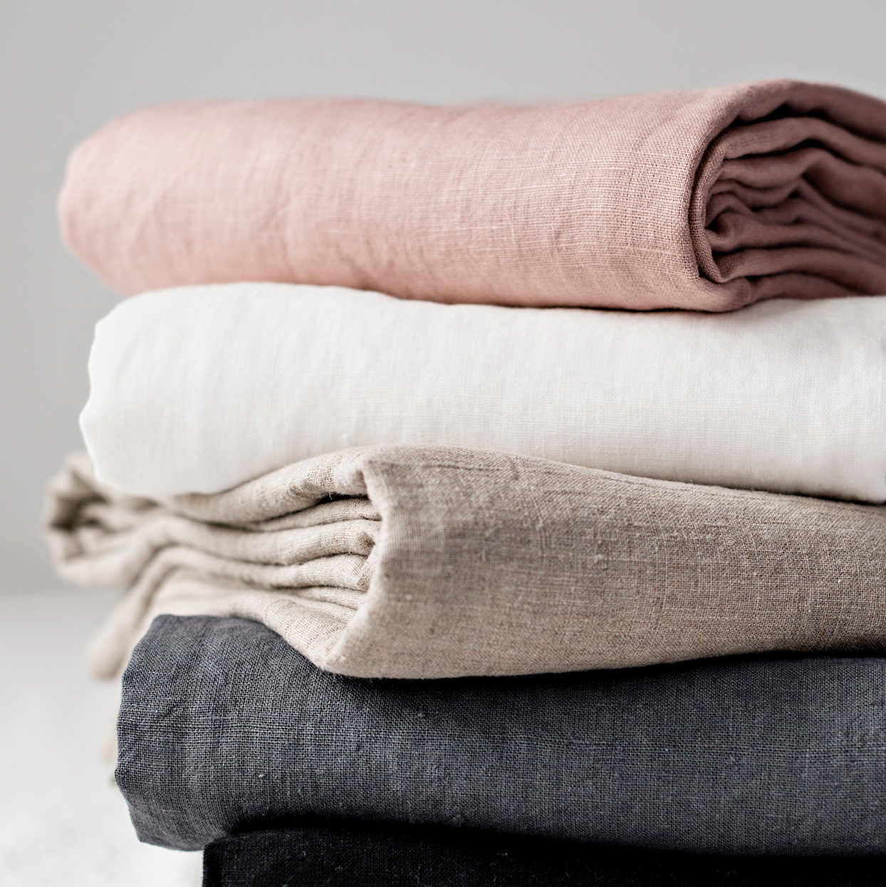 Rough Linen Orkney Collection in Plain White