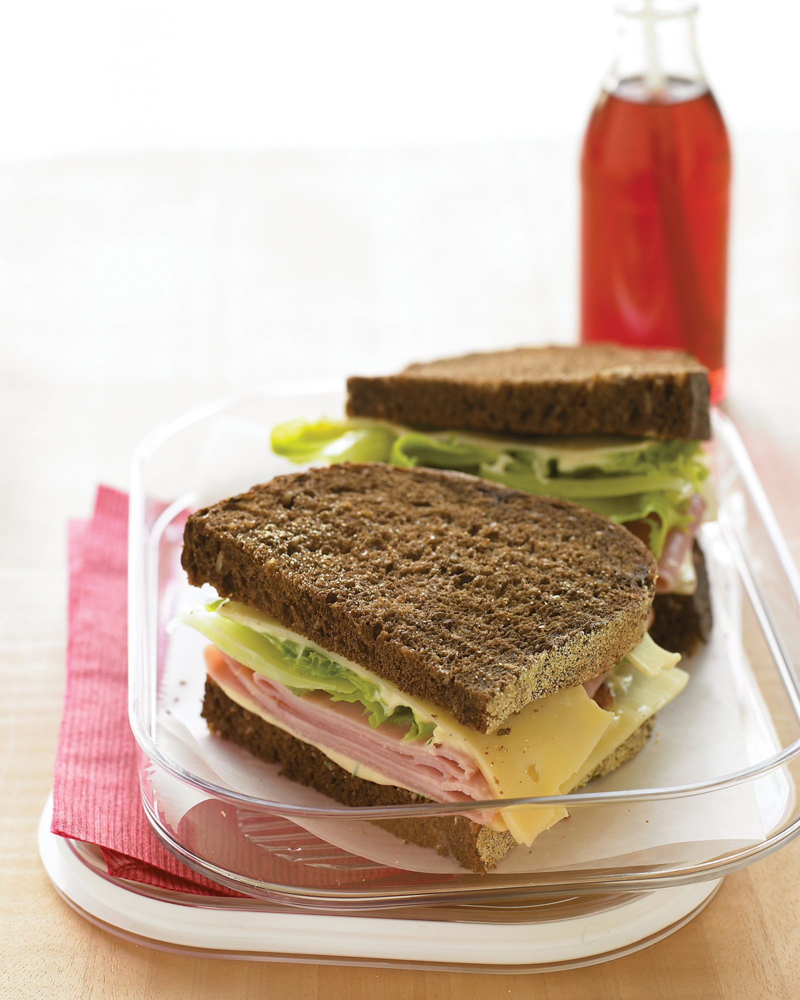 ham and swiss sandwich with lettuce