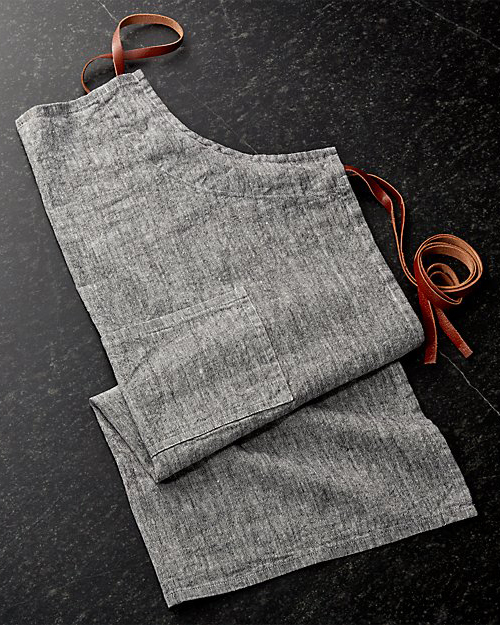 Crate & Barrel Chambray Apron