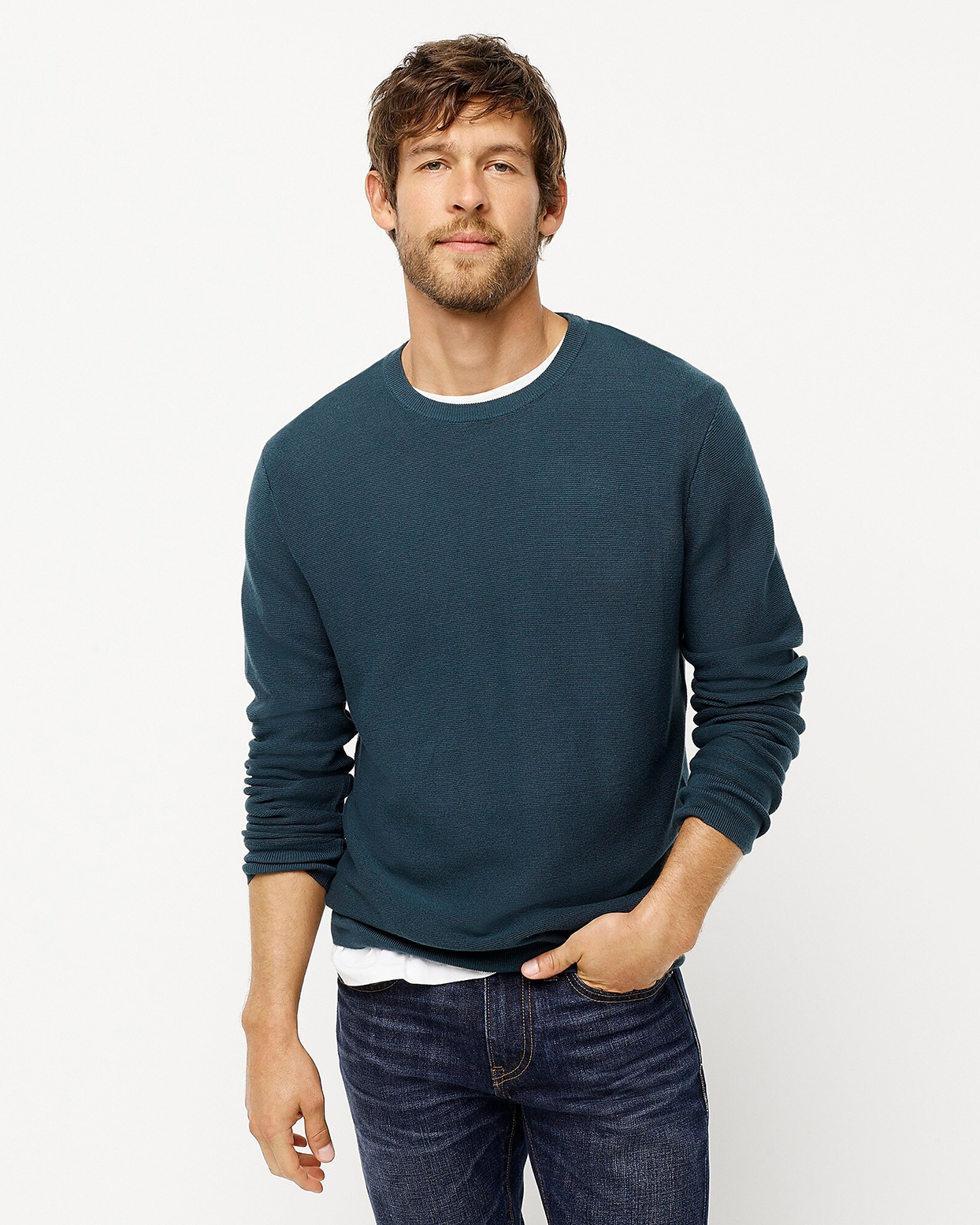 J. Crew Cotton Crewneck Sweater