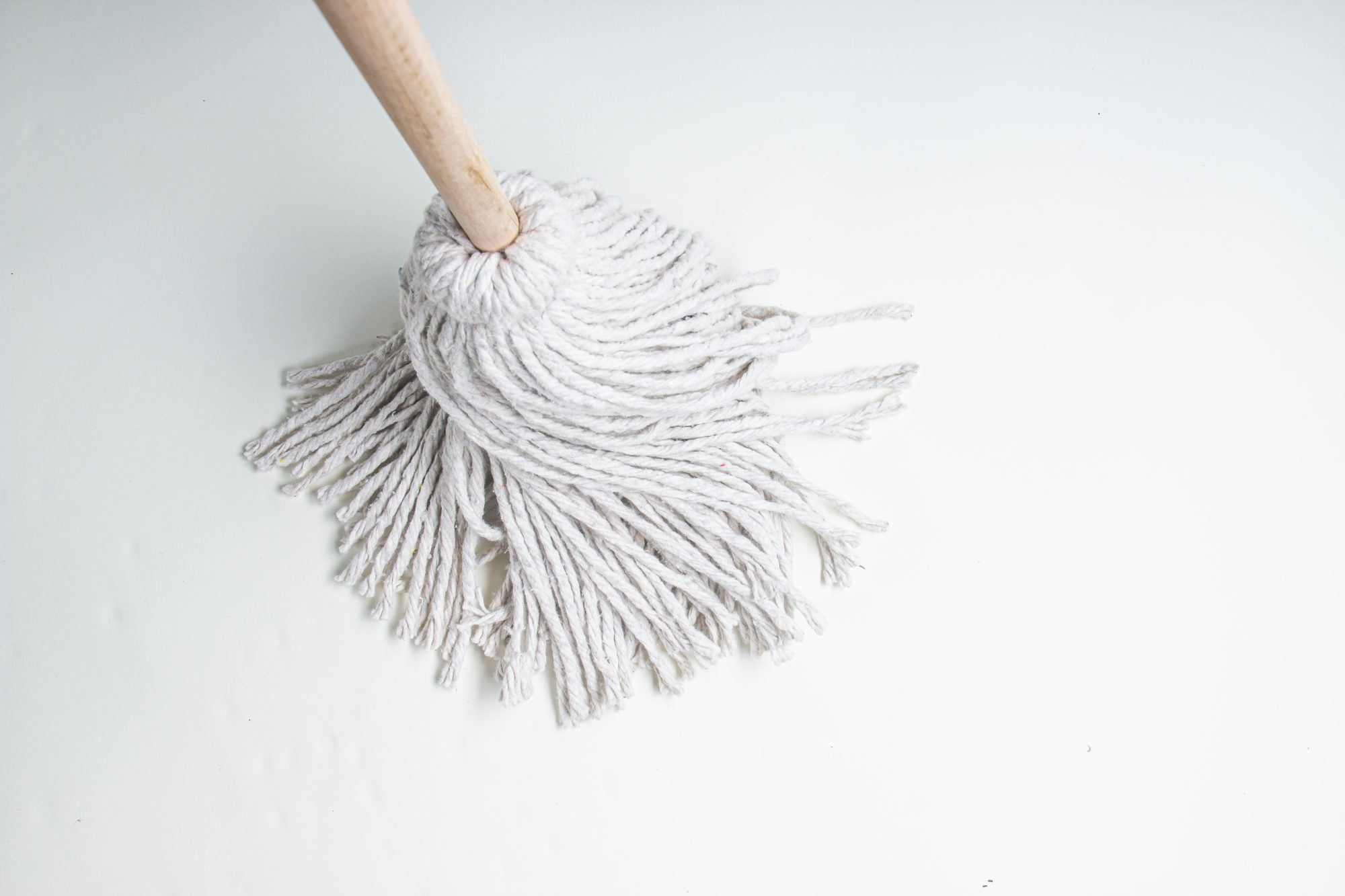 simple white mop