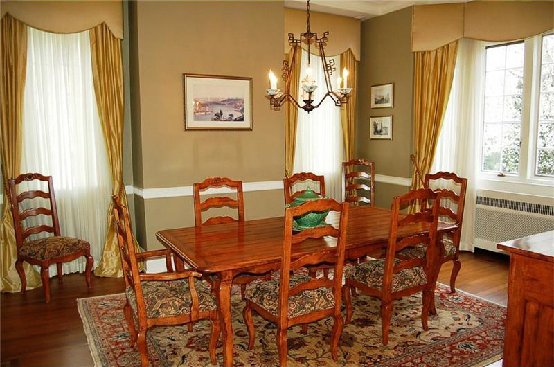 out of date warm tones dining room