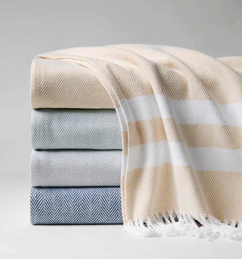 "Sferra ""Aurora"" Fringed Throw"