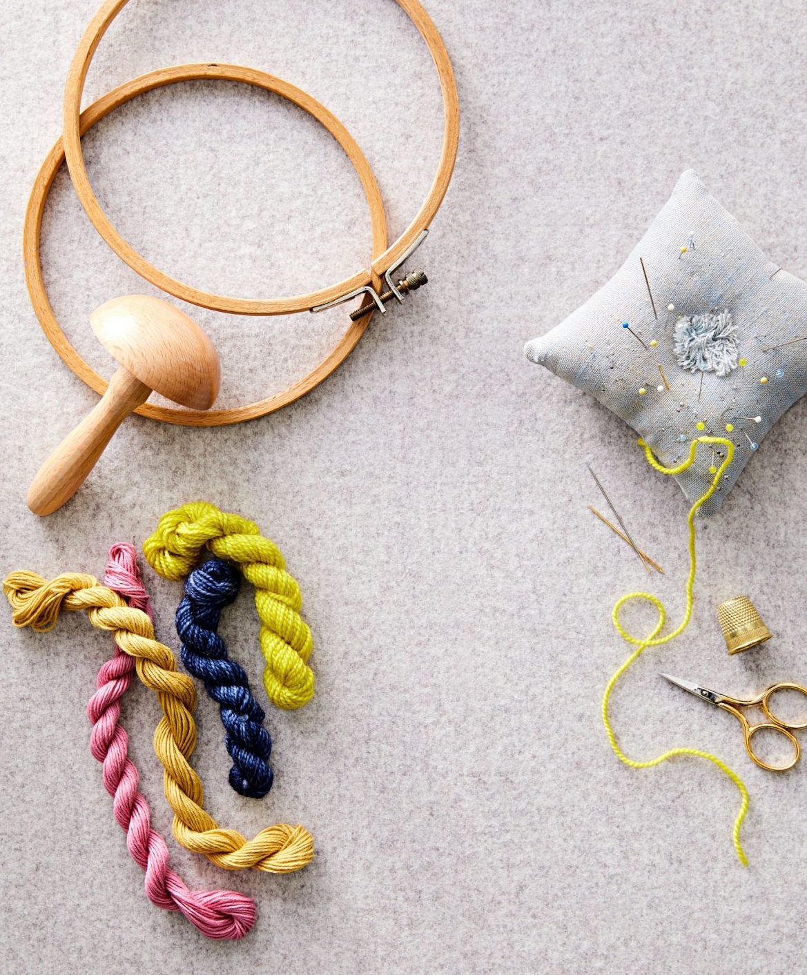 sewing supplies to mend clothes