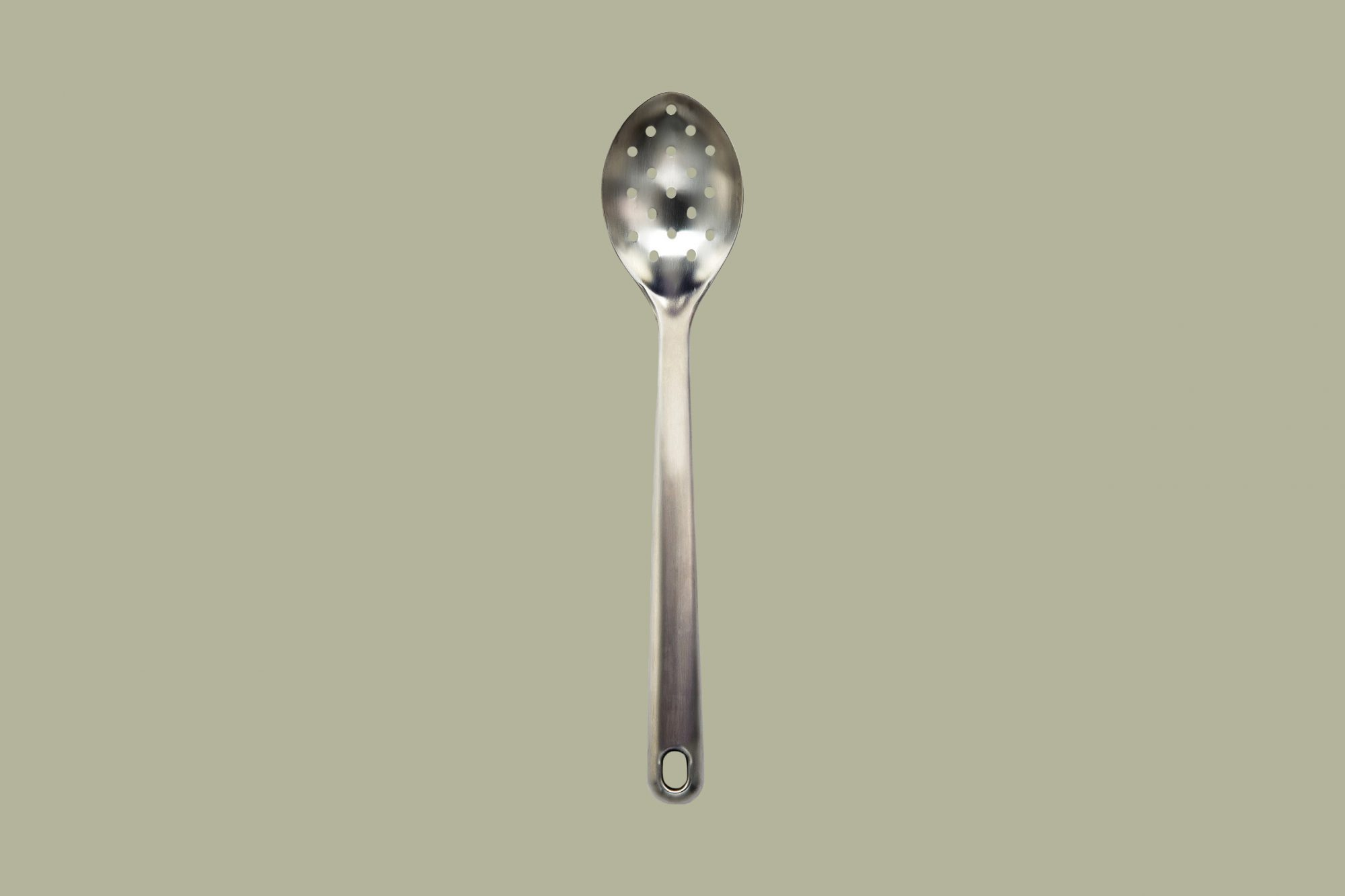 Martha Stewart Collection Stainless Steel Head Slotted Spoon