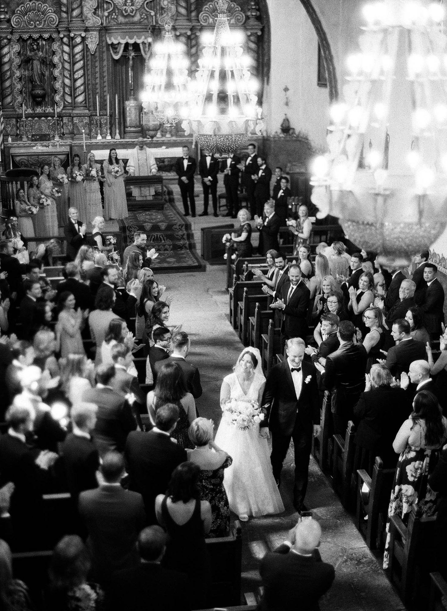 tamara erik wedding church recessional bride groom