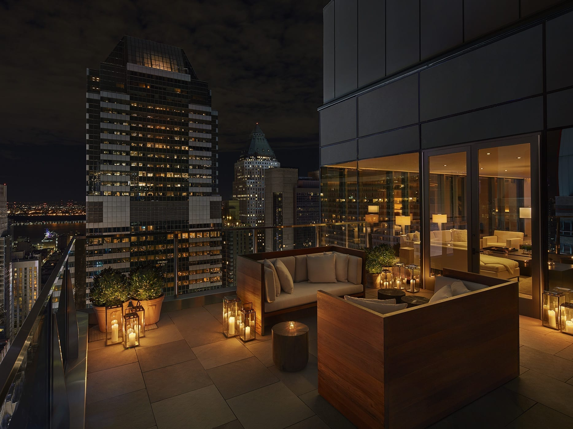 Penthouse terrace at The Times Square Edition