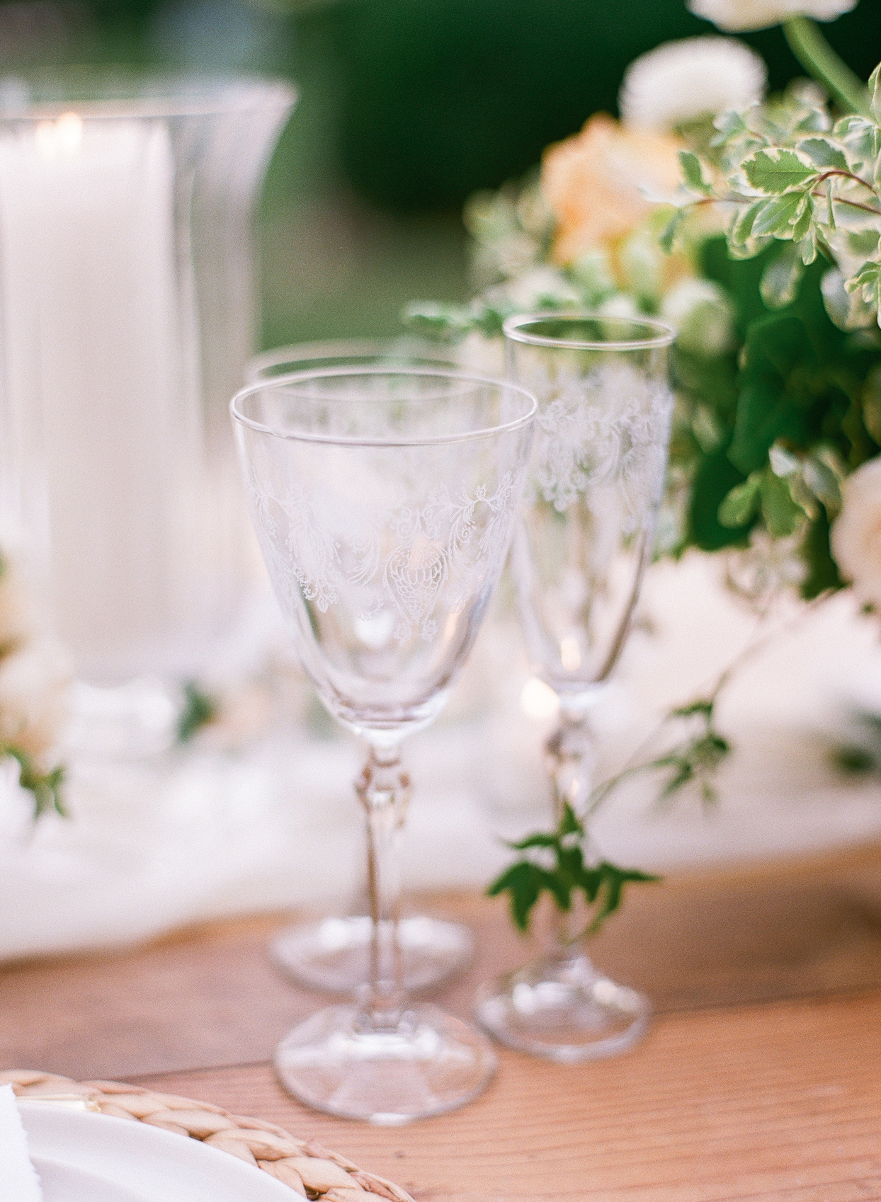 crystal wedding goblets