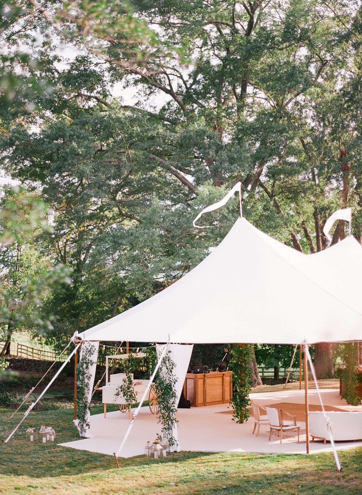 large white wedding reception tent
