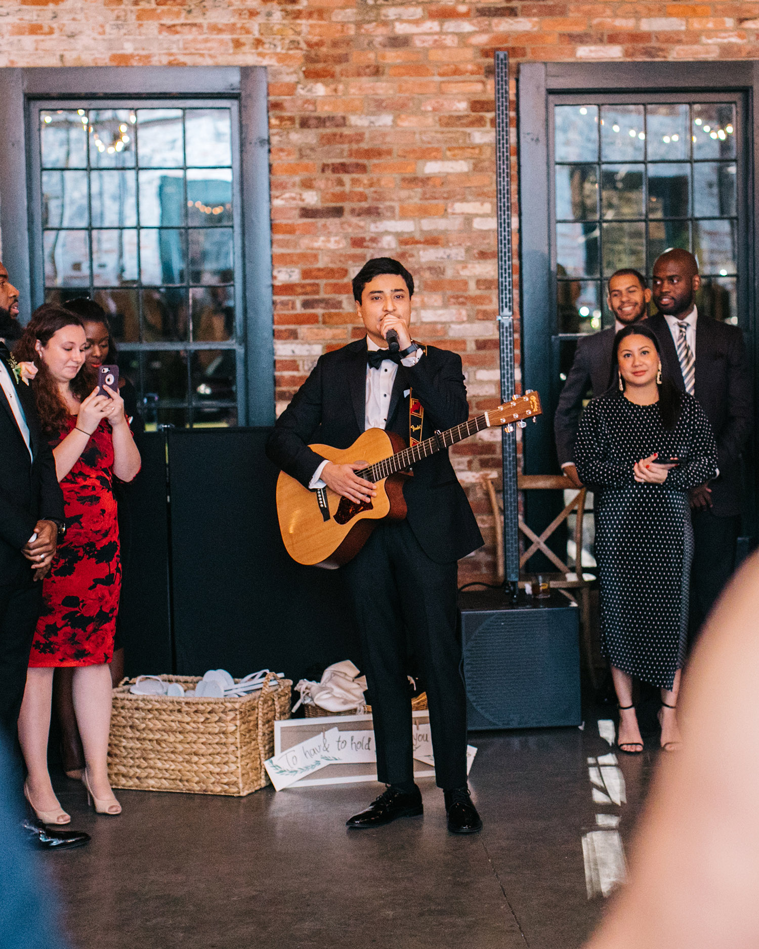 jessica ali wedding brother with guitar