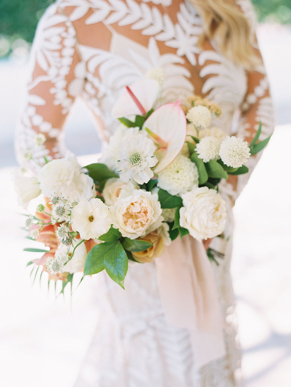 sara trisdan wedding bride's floral bouquet