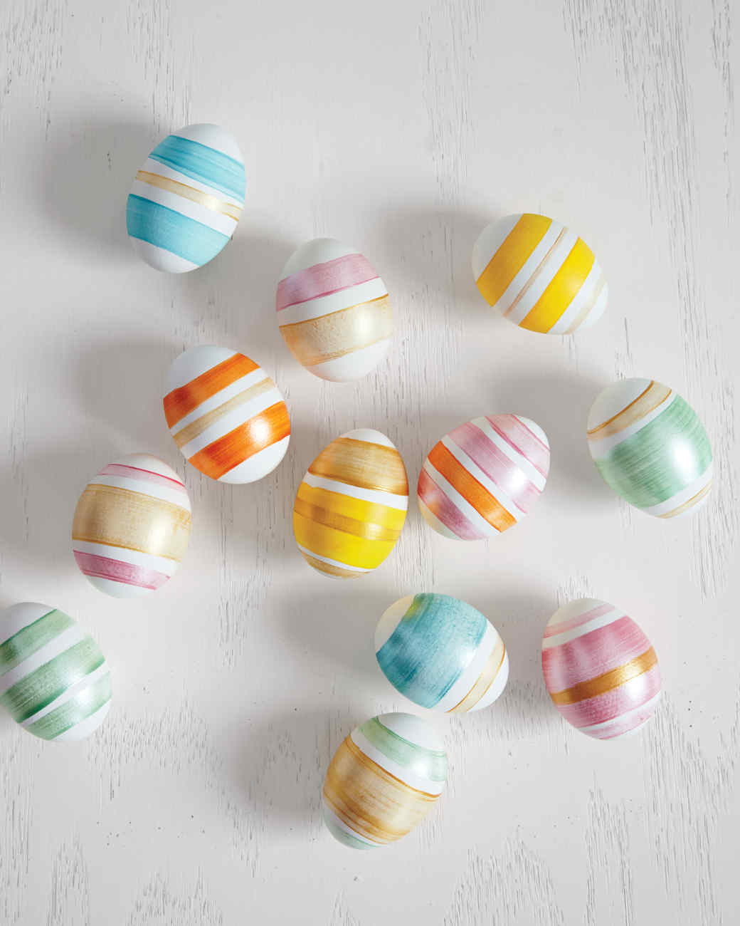 striped Easter eggs