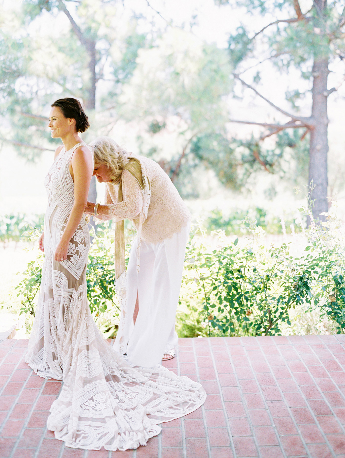 Caitlin and Fletcher wedding dress bride and mother