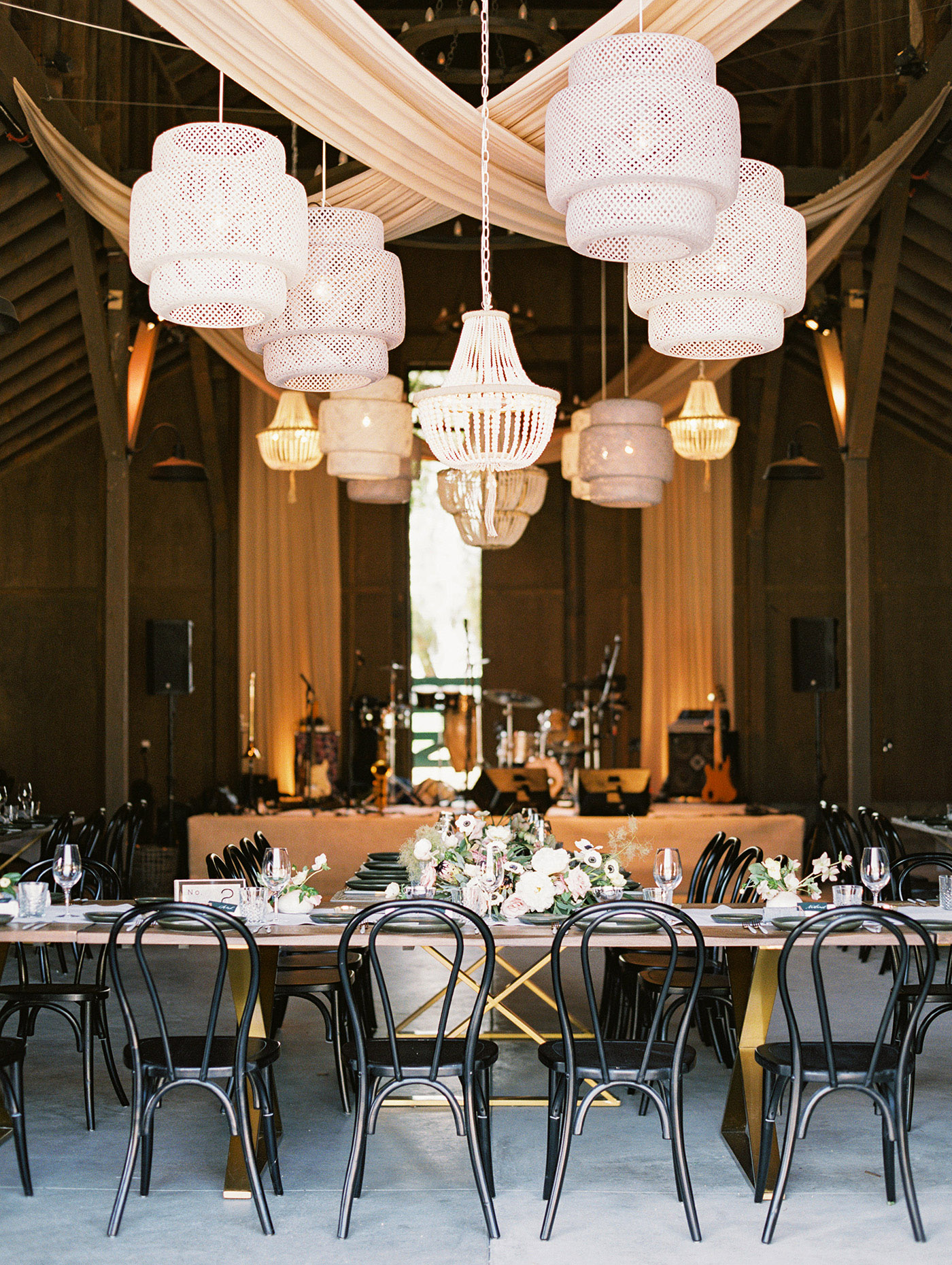 Caitlin and Fletcher wedding reception space