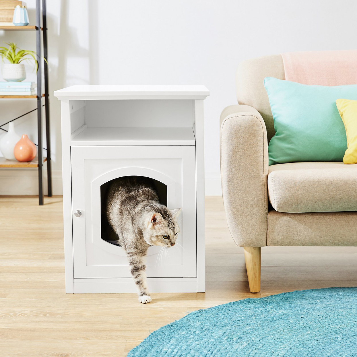 Frisco Decorative Side Table Cat Litter Box Cove