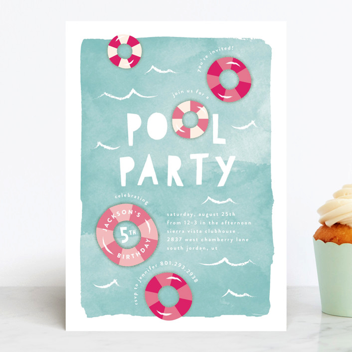 pool party invitation