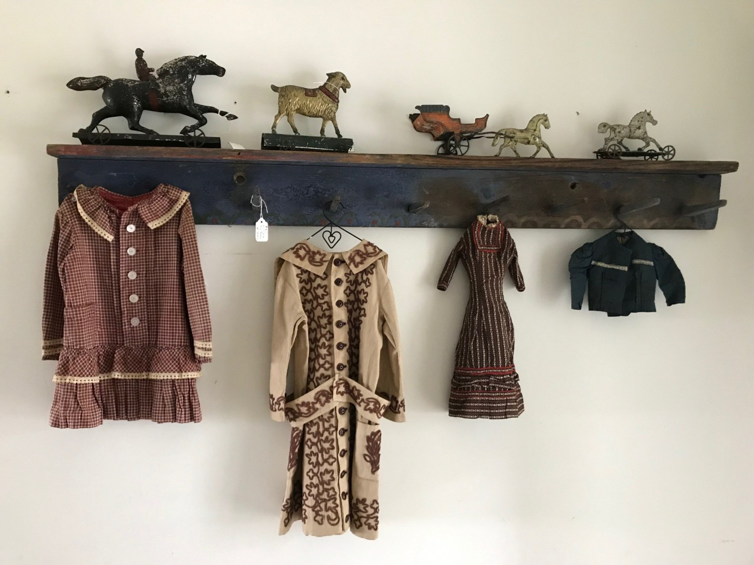 antique clothing on a hanger