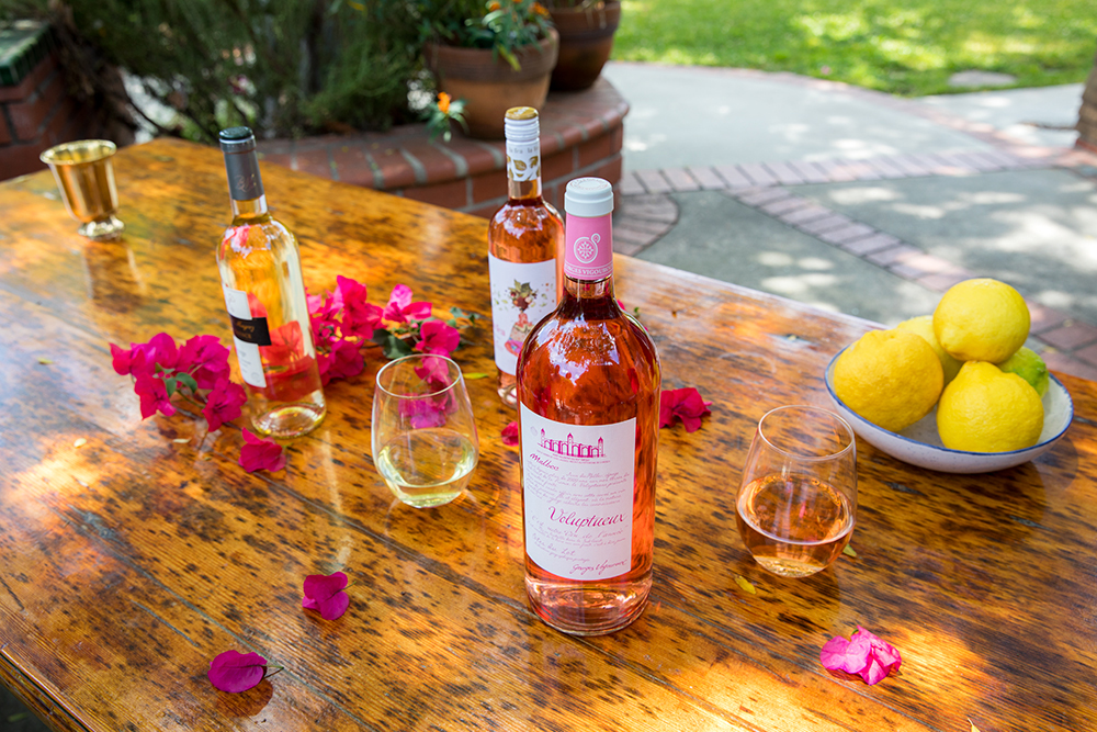 martha stewart wine co set on patio table