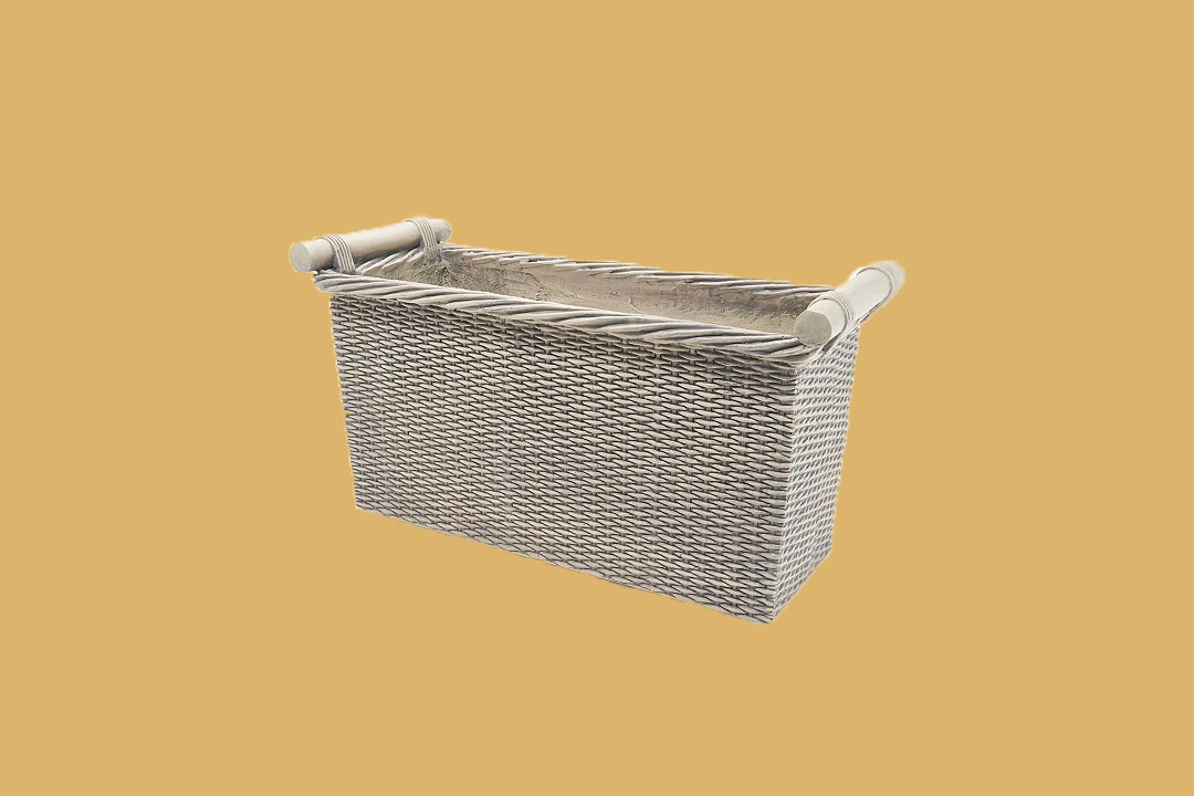 martha stewart faux wicker planter box