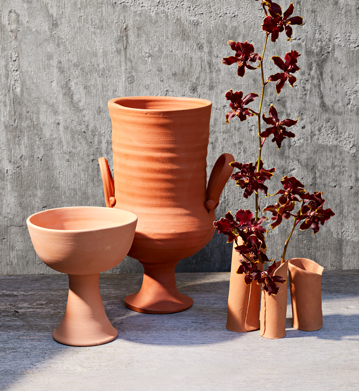 terracotta vases, planter, and urn for plants and flowers