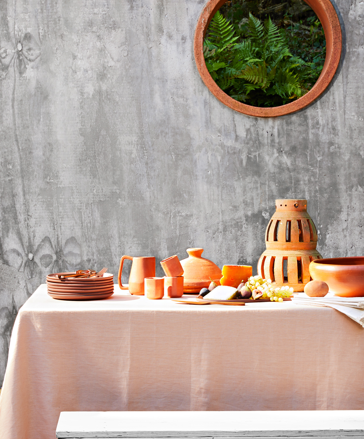 terracotta tableware