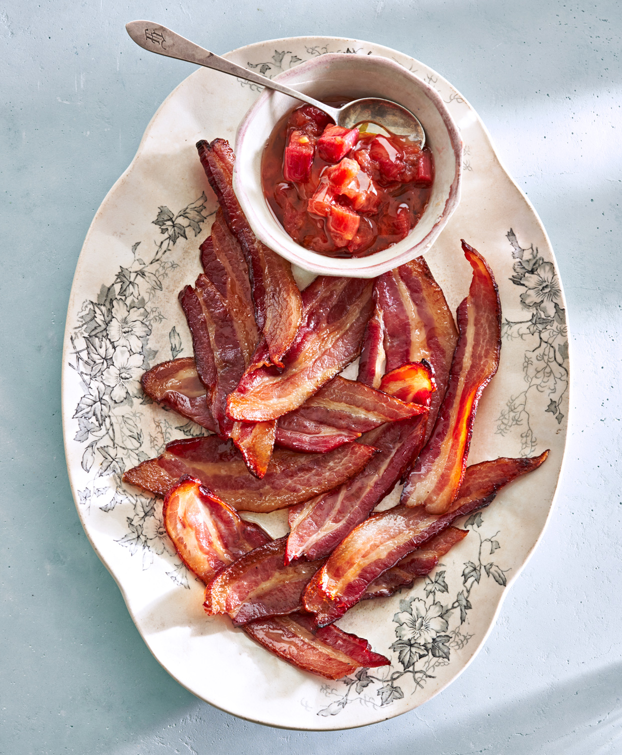 Thick-Cut Bacon with Rhubarb Chutney