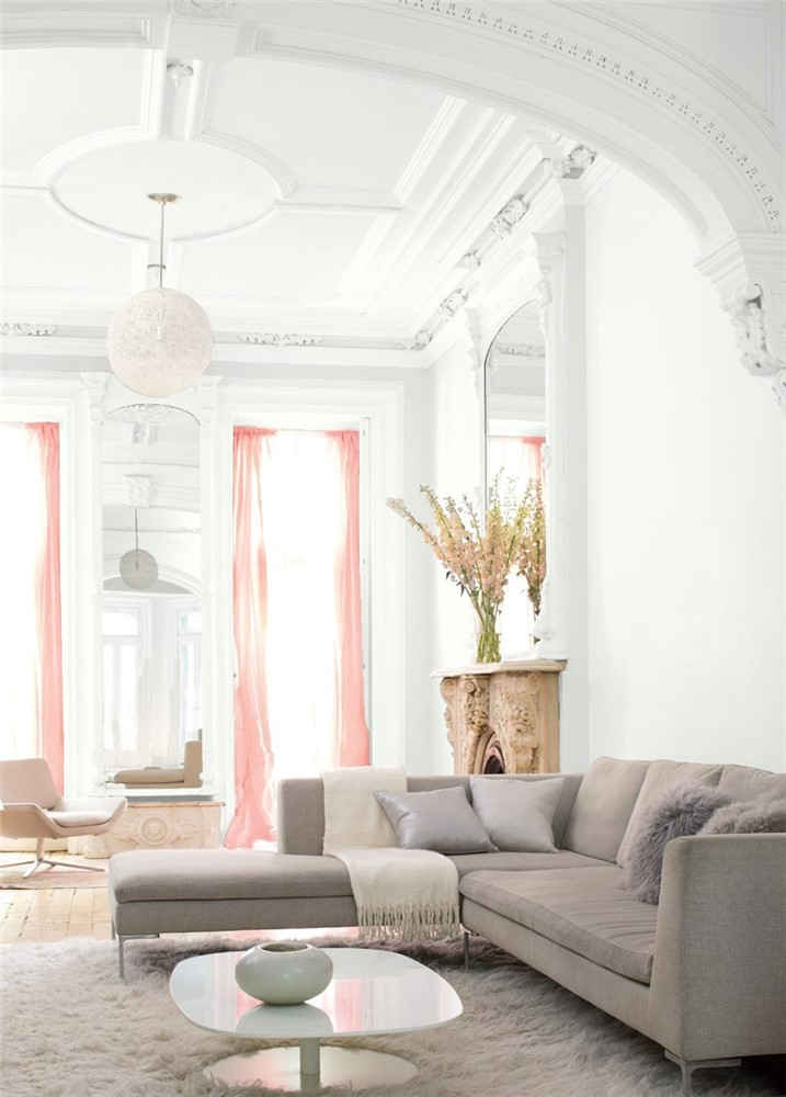 Benjamin Moore Chantilly Lace 2121-70 painted room
