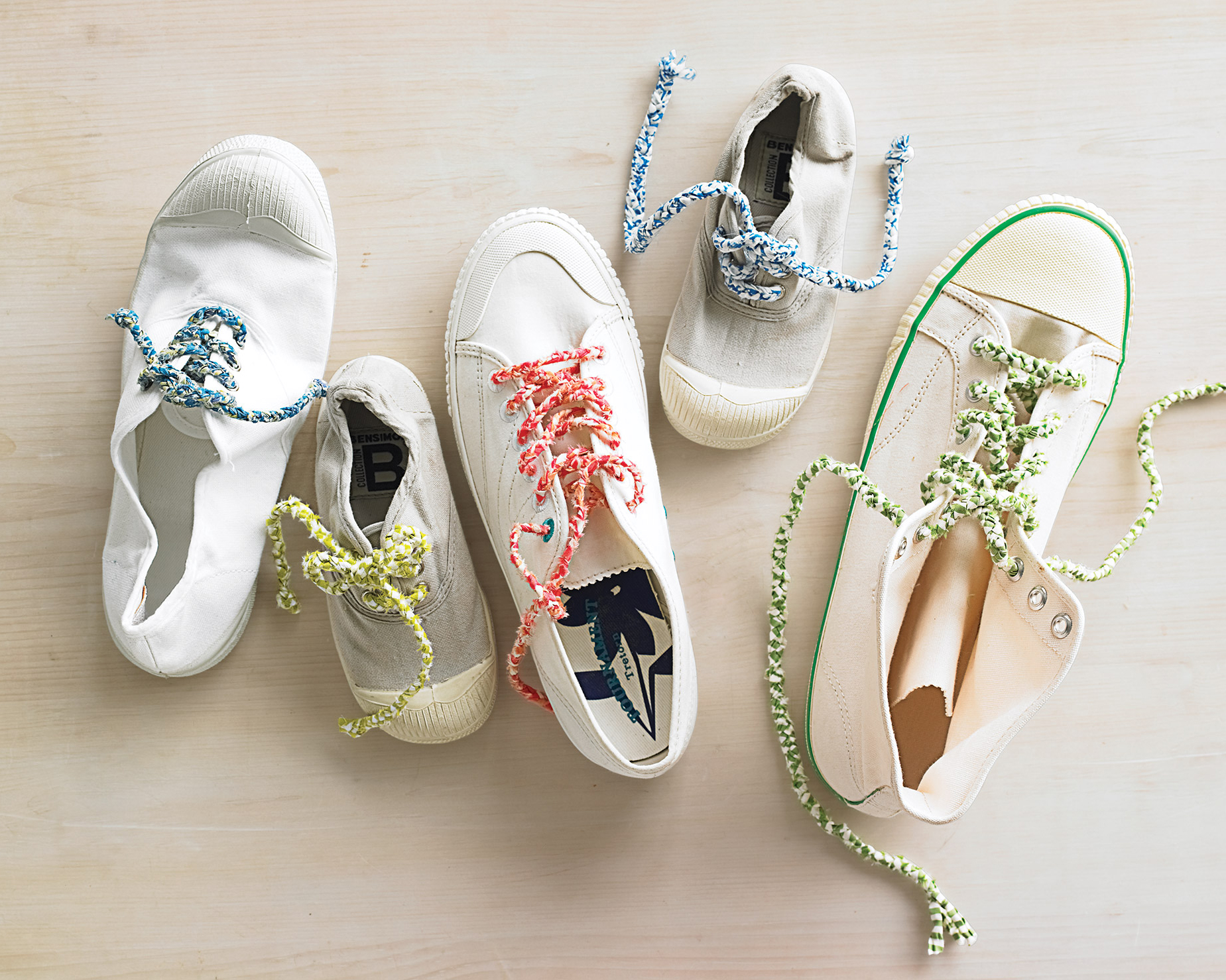 assorted white shoes
