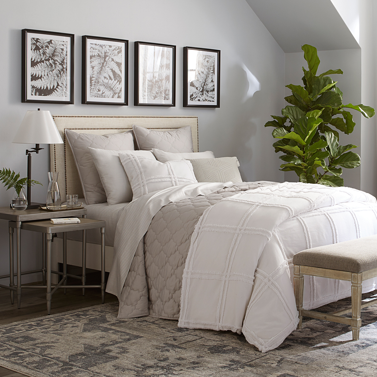 wayfair neutral country farmhouse collection bedroom