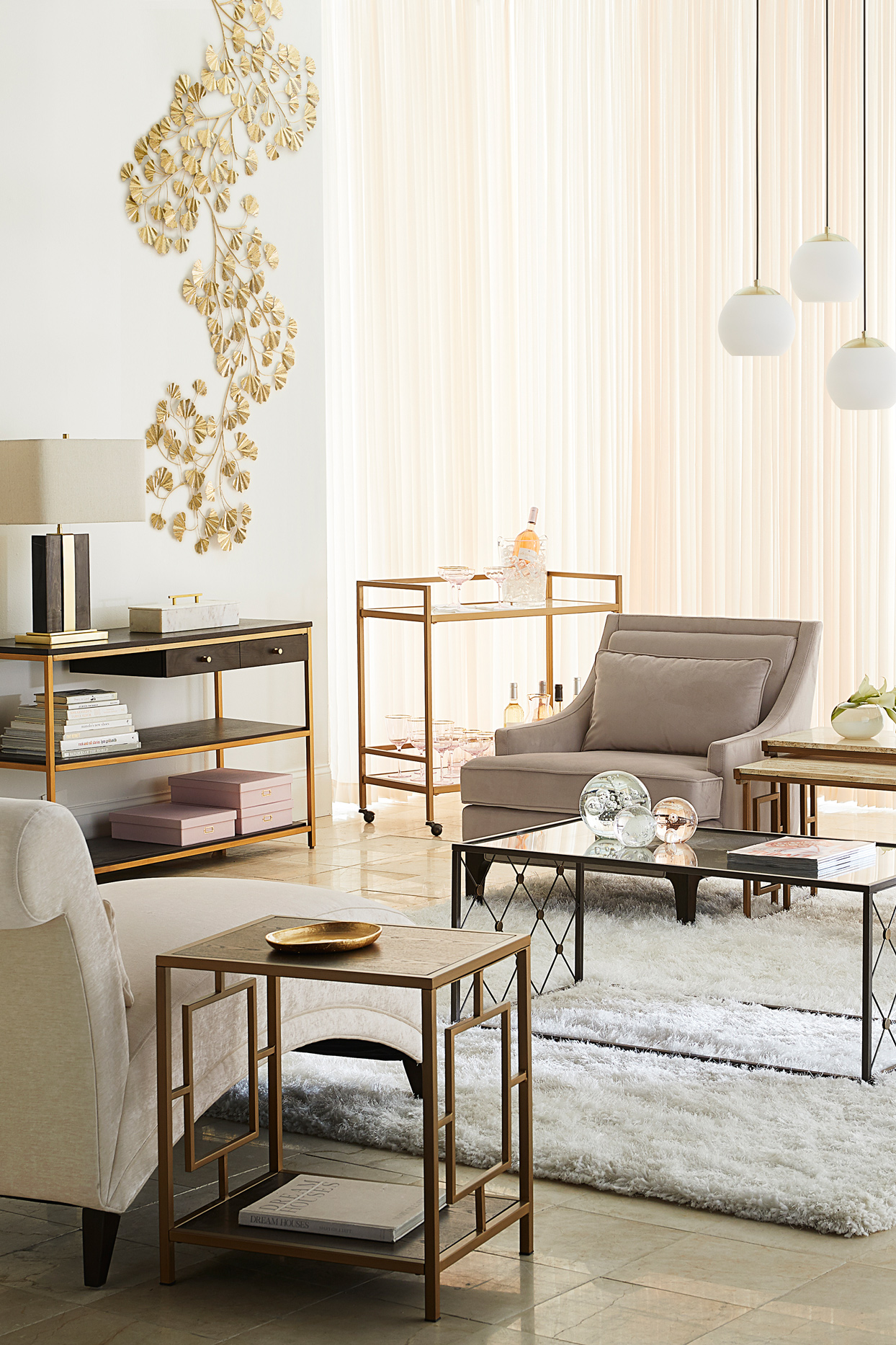 wayfair gold perry street living room collection