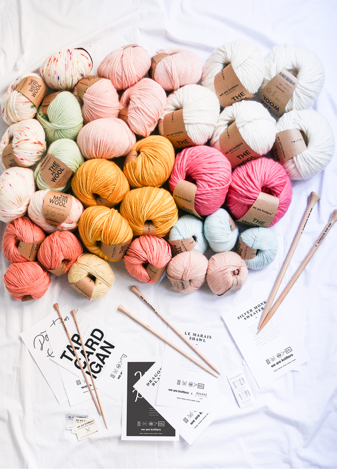 We Are Knitters yarn and needles