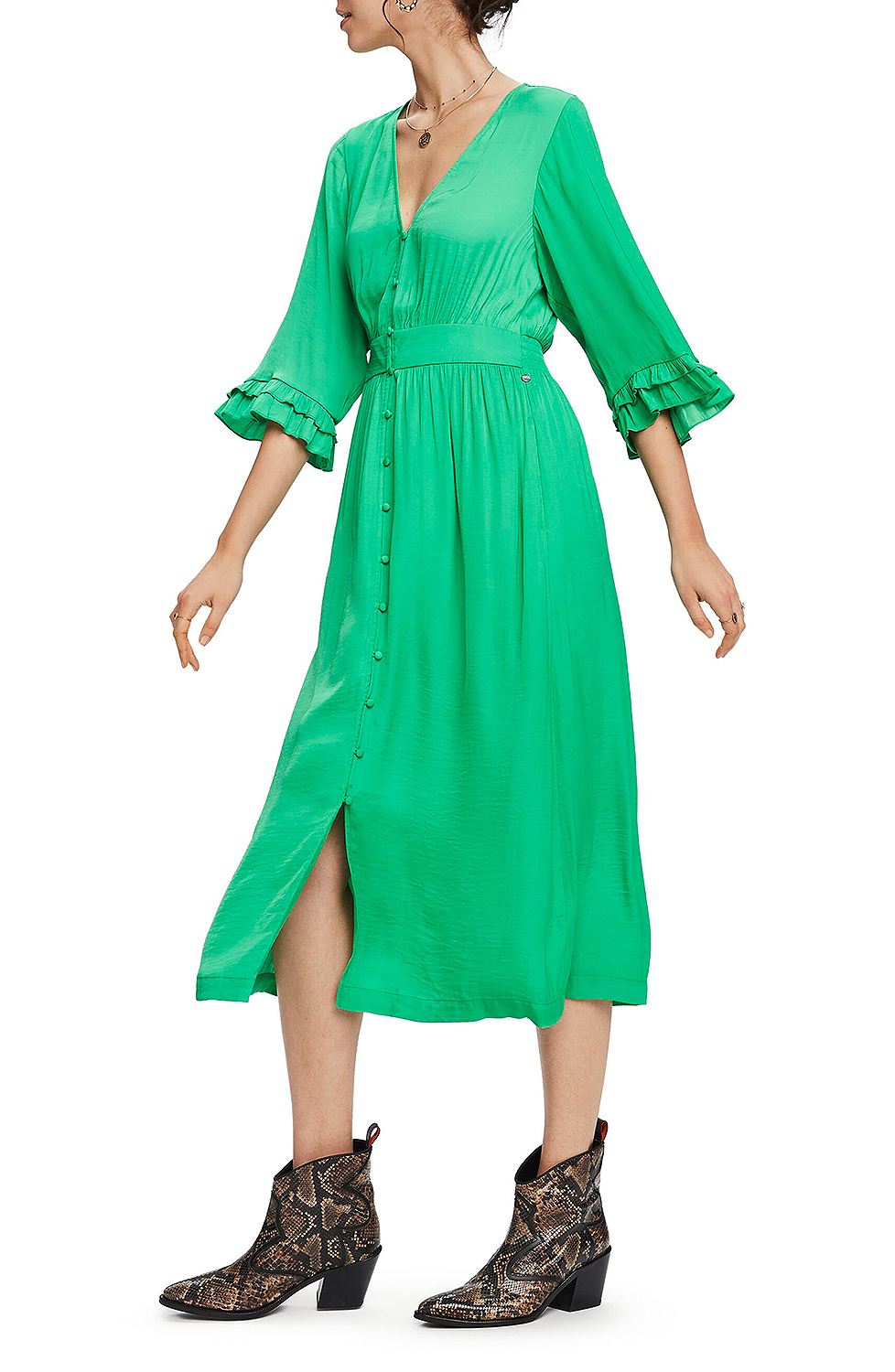 green button dress from nordstrom
