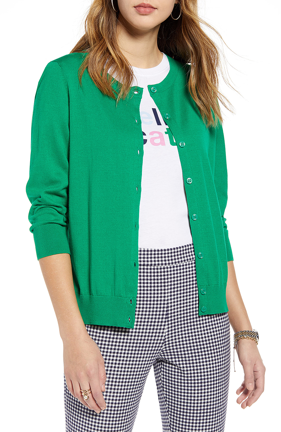 green cardigan from nordstrom