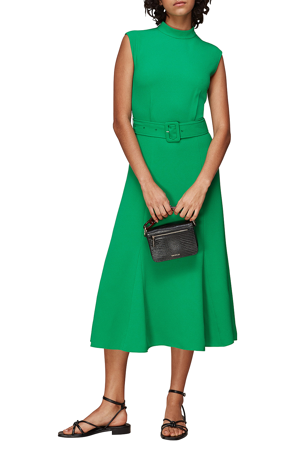 green dress with belt from nordstrom