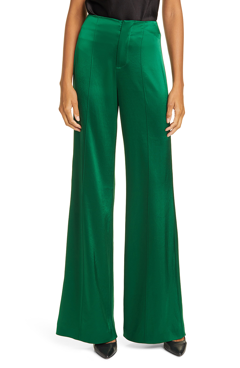 green satin pants from nordstrom