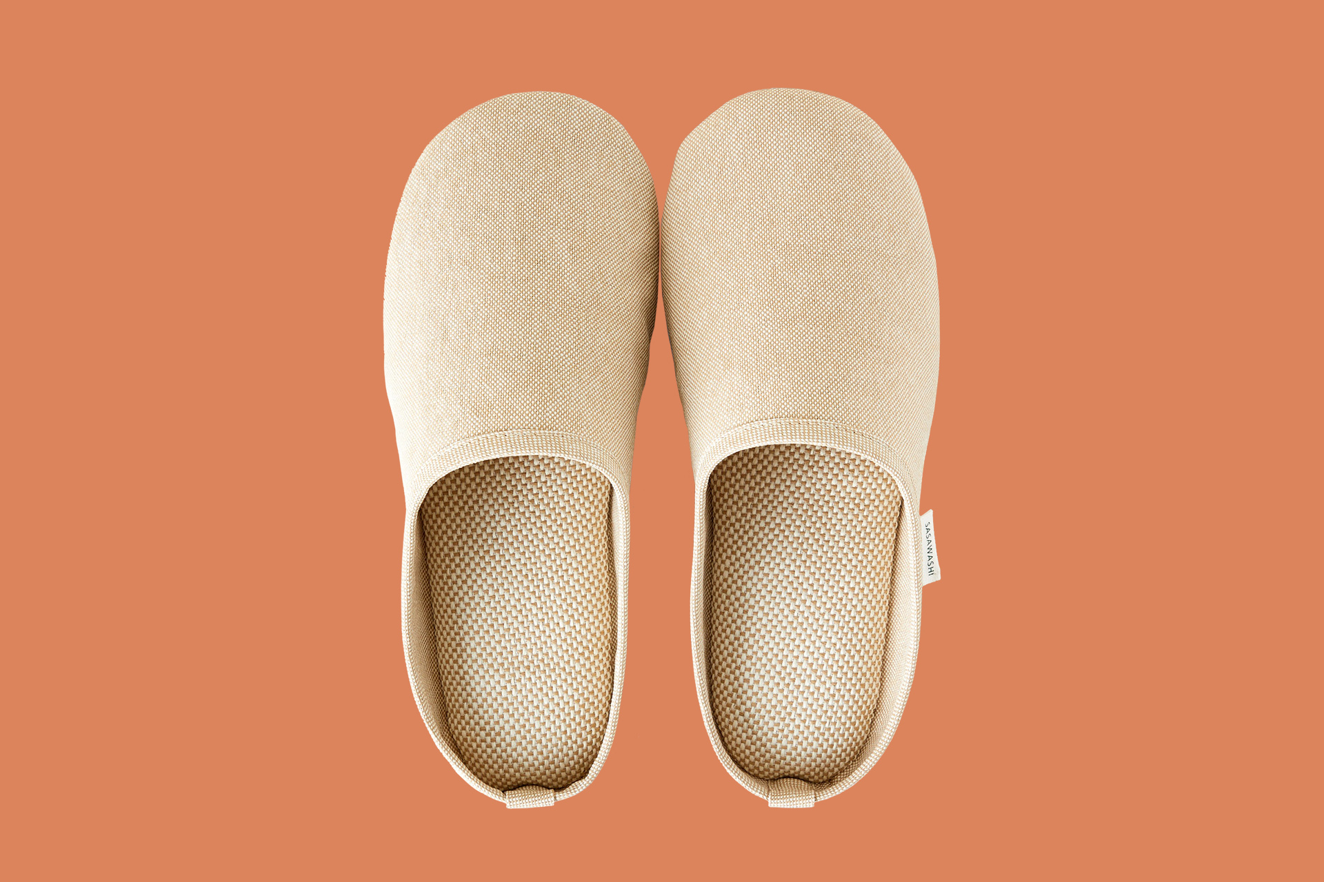 Sasawashi Room Shoes in Camel