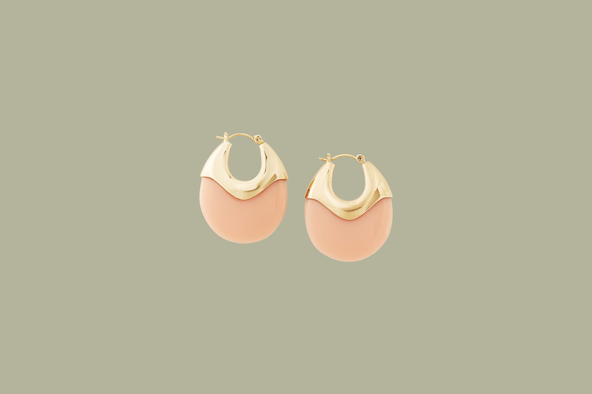 "Loeffler Randall ""Laini"" Resin Disc Earrings in Coquille"