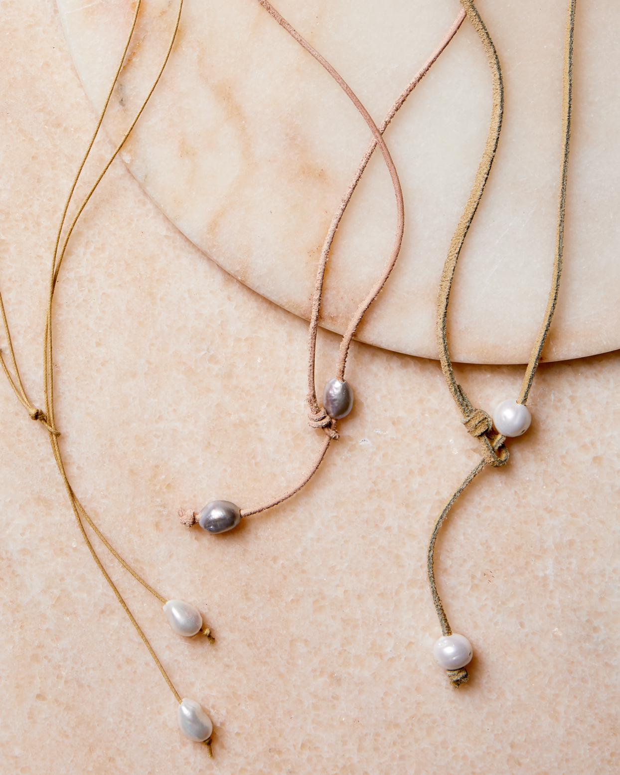 pearl lariat necklaces
