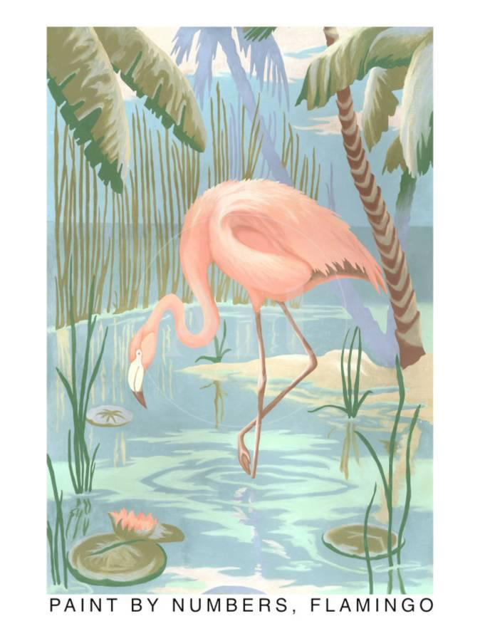 Paint by number flamingo