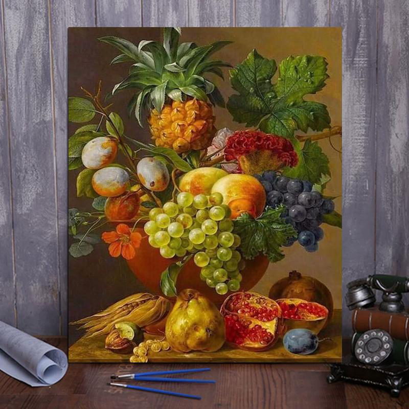 Paint by number fruit