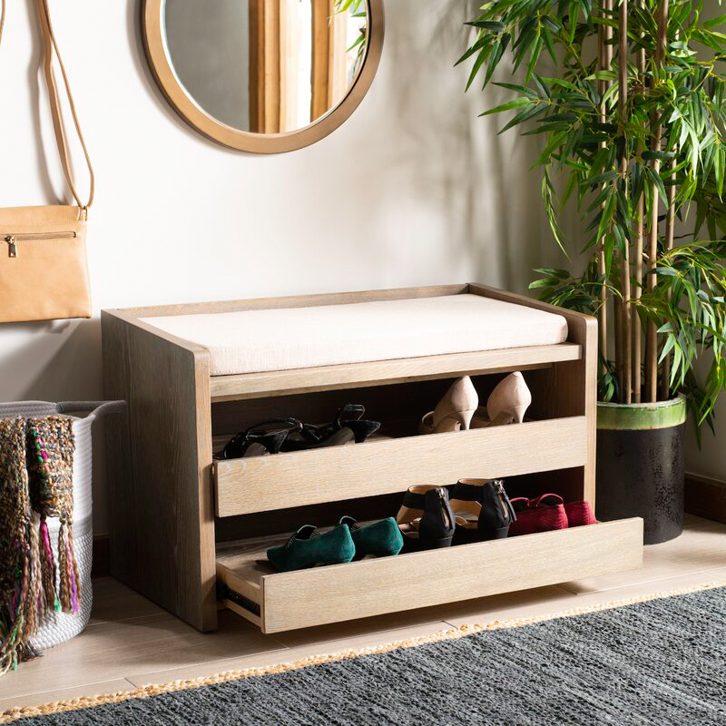 dotted line byron wood storage bench