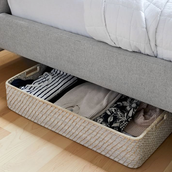 west elm modern weave underbed storage basket