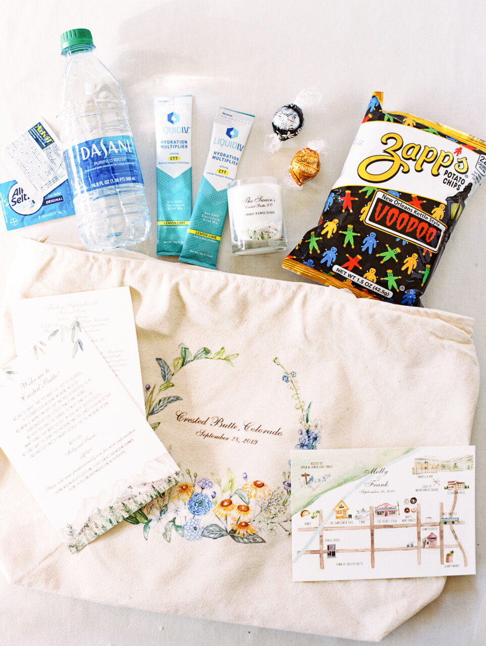 molly frank wedding welcome bag