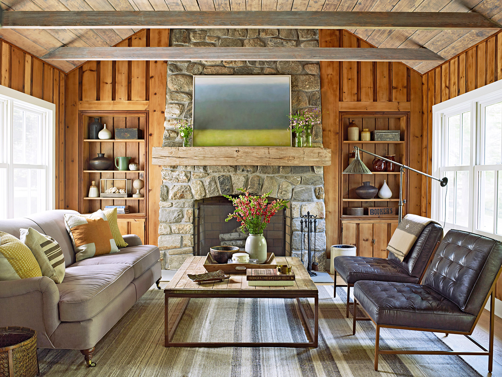 rustic-style living area